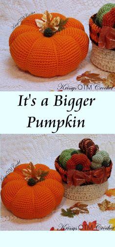 Crochet Pumpkin Pattern, Crochet Pillow Patterns Free, Halloween Crochet Patterns, Crochet Mandala Pattern, Free Pattern, Crochet Fall, Holiday Crochet, Biggest Pumpkin, Pumpkin Printable