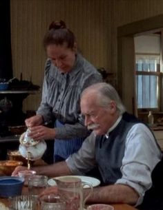 """"""" Matthew: """"Well, we might be some good to her."""" Love the Anne of Green Gables series.and Matthew. An amazing person Anne Of Avonlea, Road To Avonlea, Anne Shirley, Green Gables Fables, Colleen Dewhurst, Lm Montgomery, Gilbert And Anne, Bon Film, Anne With An E"""