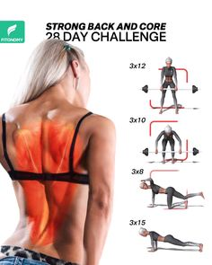 To avoid upper and lower back pain, complete these four workouts that will target your full back muscles in order to built a stronger back and core. videos STRONGER BACK AND CORE WORKOUT Fitness Workouts, Yoga Fitness, At Home Workouts, Stomach Workouts, Yoga Training, Weight Training, Strong Back, Workout Bauch, Gewichtsverlust Motivation