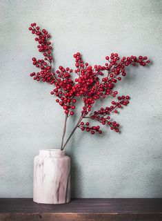 Artificial Christmas Red Berry Holiday Berries Stem Faux
