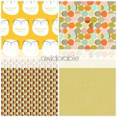 Owl Nursery Bedding, Gender Neutral Crib Bedding Set, Customizable Baby Bedding Set