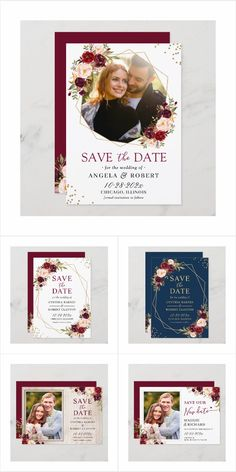 Cheap Save the Date Unique Save the Date Chelsea White Ink Save the Date Save the Date Magnet Dusky Blue Save the Date Card