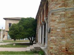 Santa Fosca, Torcello, Italy, colonnade