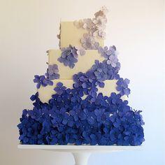 Ombre Purple Blossoms Cake