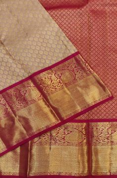 Shop more Handloom Kanjeevaram Saree at Luxurionworld. Indian Bridal Sarees, Wedding Silk Saree, Indian Silk Sarees, Pure Silk Sarees, Bengali Saree, Bollywood Saree, Sabyasachi, Bridal Lehenga, Bollywood Fashion
