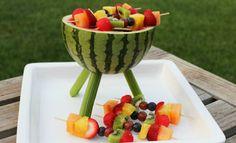 Watermeloen fun,  leuk na of tijdens een BBQ