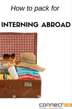 Packing can be stressful, even more so when you will be spending months abroad! Let us help with this handy guide to packing for interning abroad! Packing Checklist, What To Pack, 2 Months, Volunteers, 1 Year, Simple, Travel, Viajes, Destinations
