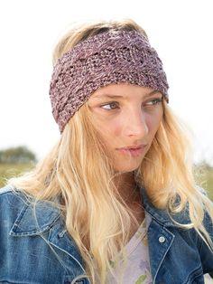 Pralines, a free headband pattern crocheted in Berroco Ginkgo. Download the free pattern at www.berroco.com #freepattern #crochet