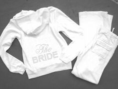 Bride Jacket - Bridal Sweatsuits - Just Married Hoodies and Sweats - Bridal Hoodies - Personalized Tracksuits - Wedding Apparel for the Bride and Wedding Party