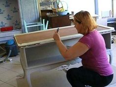 Metamorfoza biurka - 2. Malowanie farbą kredową Vittorino