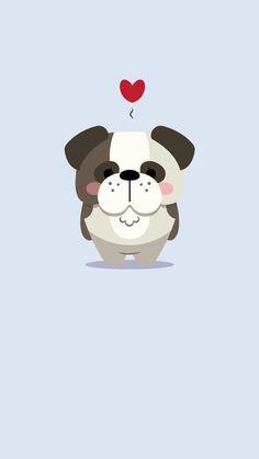 아이폰5/SE 불독 배경화면 iphone5/se bulldog background screen  instagram @bomyeon_