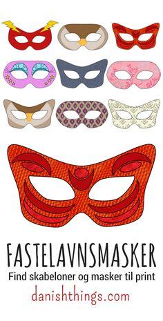 Fastelavnsmasker - masker til fastelavn eller maskerade - Danish Things Easy Hobbies, Hobbies To Take Up, Hobbies For Couples, Cheap Hobbies, Hobbies For Women, Hobbies That Make Money, Hobby Lobby Fabric, Hobby Lobby Crafts, Hobby Room