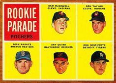 Ron Nischwitz - Rookie Parade Card 1962 - Topps  Card Number: 591