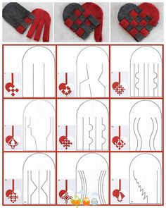 woven hearts templates. not sure what I'll use them for, but hey, cool!