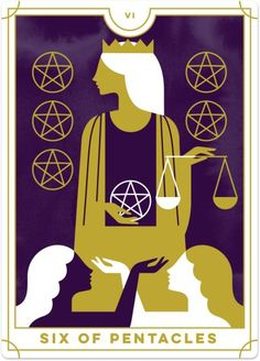 Detailed Tarot card meaning for the Six of Pentacles including upright and reversed card meanings. Access the Biddy Tarot Card Meanings database - an extensive Tarot resource. What Are Tarot Cards, Online Tarot, Daily Tarot, Tarot Card Meanings, Tarot Readers, Instagram And Snapchat, Pentacle, Oracle Cards, Tarot Decks