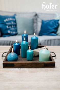 Candle Holders, Candles, Home, Blue Candles, Deco, Ad Home, Porta Velas, Candy, Homes