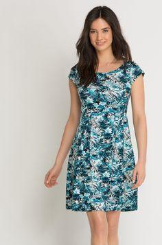 Kleid im Tropical-Look