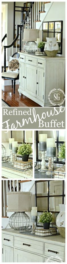 REFINED FARMHOUSE BUFFET Choosing the right piece of furniture