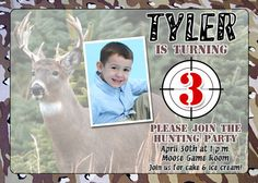 Hunter Birthday Invitations  Hunting Party by miragreetings, $16.00