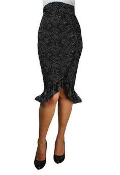 Ruffles Pencil Skirt --Save 37% at Chicstar.com  Coupon: AMBER37