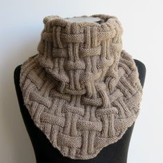 Knit Chunky Scarf Snood Oversized Bandana Cowl dark beige Cowl Scarf... ❤ liked on Polyvore featuring men's fashion, men's accessories, men's scarves, mens handkerchiefs, mens bandana, mens scarves and mens snood