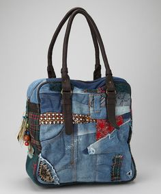 Take a look at this Blue Collage Gala Tote by Desigual Women on #zulily today!