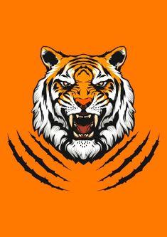 Tiger Illustration, Tiger Logo, Game Logo Design, Tiger Design, Snapchat Picture, Tiger Art, Animal Facts, Tattoo Sleeve Designs, Dope Art