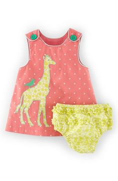 Mini Boden 'Appliqué Pinnie' Sleeveless Dress & Bloomers (Baby Girls) available at #Nordstrom