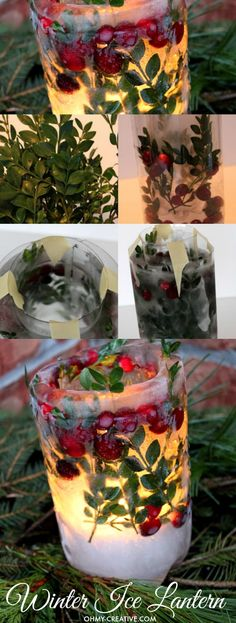 How to make a beautiful Winter Ice Lantern | http://OHMY-CREATIVE.COM