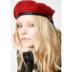 Red Military Beret ( 18) ❤ liked on Polyvore featuring accessories a17a902d327