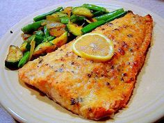 Easy Lemon Parmesan Baked Salmon - Parmesan idea worked well with my own seasoning