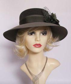 Vintage formal hat races hat wedding hat Ascot hat church