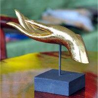 Buddha Hände 1 Paar in gold, 25cm