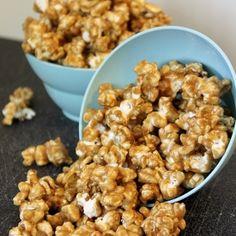 Crunchy and sweet caramel popcorn. Yum.