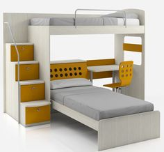 Youngsters Bedroom Furnishings – Bunk Beds for Kids Bunk Beds For Girls Room, Bunk Beds With Stairs, Kids Bunk Beds, Girls Bedroom, Modern Bunk Beds, Zeina, Bunk Bed Designs, Loft Spaces, Room Decor