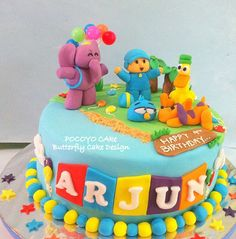 pocoyo cake Cake Pops, Cake Smash, Butterfly Cakes, Themed Cakes, Cake Designs, Amazing Cakes, Cake Decorating, Crafts For Kids, Birthday Cake
