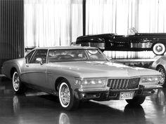 The 1972 Silver Arrow III Buick Riviera concept was designed by Bill Mitchell and introduced at the 1972 Detroit Auto...