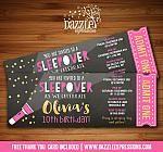 Sleepover Chalkboard Ticket Invitation 2 - FREE thank you card