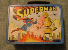 25 Awesome Vintage Lunchboxes – Being a child of the that I am, one of the best memories I have is that of the kick-ass metal lunchbox. Vintage Lunch Boxes, Cool Lunch Boxes, Vintage Tins, Vintage Stuff, Superman Movies, Superman Stuff, School Lunch Box, Vintage School, Great Memories