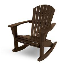 Seashell Adirondack Rocking Chairs
