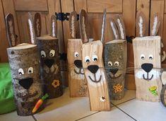 Cornelia Rauf Ergeben Sie umherwandern eine Karriere bis dato, hinein der S… Easter Bunny, Easter Eggs, Diy For Kids, Crafts For Kids, Wood Crafts, Diy Crafts, Diy Garden Furniture, Garden Yard Ideas, Bunny Crafts