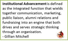 What is institutional Advancement and what does it mean to build lasting alumni relations?