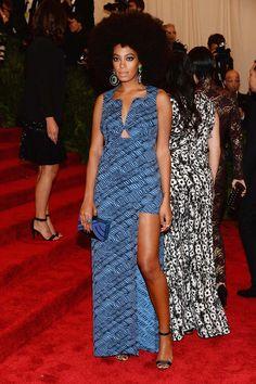 Solange Knowles wears Kenzo @ The Met Gala Red Carpet 2013.