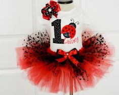 Girls First Red and Black polka dot tutu set,First LadyBug Birthday outfit,Girls ladybug tutu outfit,Girls Ladybug birthday outfit First Birthday Outfit Girl, Baby Girl 1st Birthday, 1st Birthday Parties, Birthday Ideas, Ladybug Tutu, Ladybug Party, Ladybug 1st Birthdays, First Birthdays, Cake Smash Outfit Girl