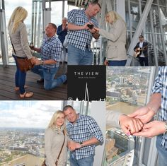 The special moment when Ross Patterson proposed to Michelle Richardson (complete with serenading guitarist, Charlie) at The View from The Shard.  Plan your proposal on enquiries@theviewfromtheshard.com    www.theviewfromtheshard.com