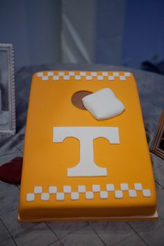Tennessee grooms cake -- corn hole board and bags