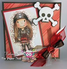 The Paper Nest: Pirate Avery by DT #loriann #thepapernest #copicsketch #handmadecards