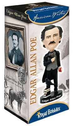 Fans of classic literature and poetry should be sure to pick up this #EdgarAllanPoe #bobblehead from #RoyalBobbles. It comes in a beautifully designed collector's box as well.