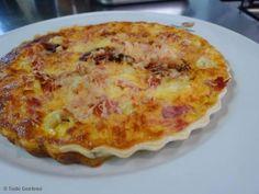 Receita de Quiche de presunto e queijo.