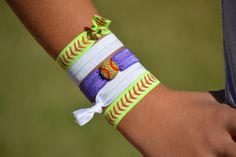 Hair Ties that are super cute and customizable to your team colors. Check them out!